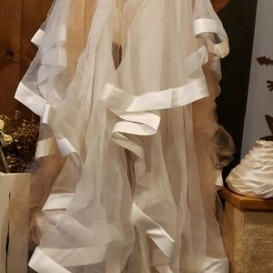 Terani Couture Dresses - Terani Beaded Top & Organza 2 piece Gown NWT
